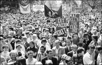 Miners rally in Wales, April 1984, photo D Sinclair