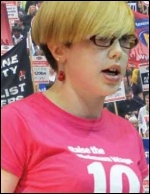 Helen Pattison argues for a minimum £10 an hour wage, photo Paul Mattsson