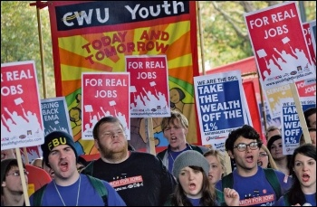 Reject austerity lies!, photo Paul Mattsson