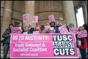 TUSC prospective candidates on the national march against racism, photo Paul Mattsson
