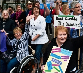The planned cuts will hit disabled people and their carers, photo Paul Mattsson