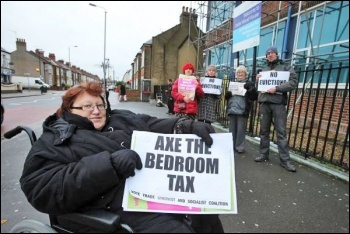 Protesting about a bedroom tax case