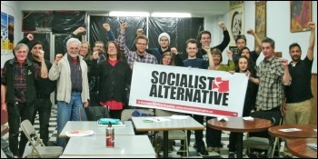 Attendees at the first Socialist Alternative (CWI Canada) national meeting