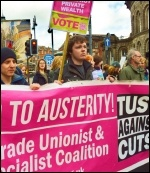 Over 1,000 people marched in Leeds on Saturday 28 April in defence of the NHS , photo Iain Dalton