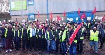 Bradford bus workers on strike in 2015