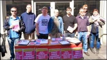 TUSC campaigners in Worcester 2015, photo Mark Davies
