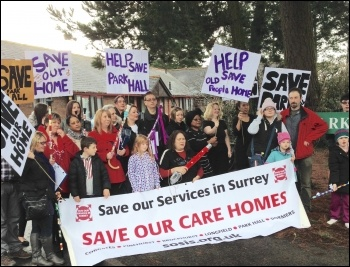Campaigning to save care homes in Surrey