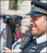 Police film London May Day demonstrators, photo Paul Mattsson