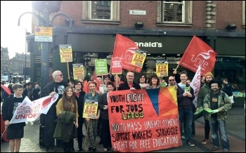 Leeds YFJ protest, May 2015