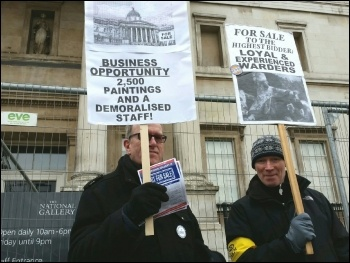 Demonstrating against privatisation of the National Gallery, photo Paul Mattsson