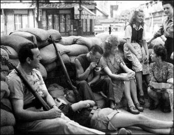 French resistance fighters liberated Paris from Nazi occupation