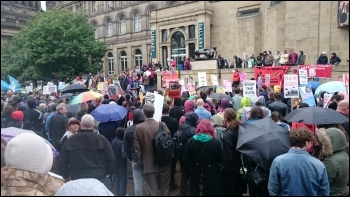 YFJ anti-austerity protest, Leeds, 28.5.15