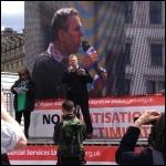 Mark Serwotka, PCS general secretary, addressing the rally, photo J Beishon