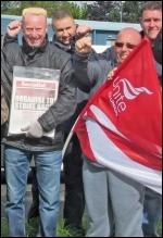 Kone strikers  celebrate victory