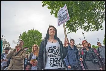 Queen's Speech protesters in London, photo Paul Mattsson