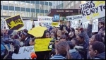 Sedgehill school students protest against academies in Lewisham, photo Lewisham SP