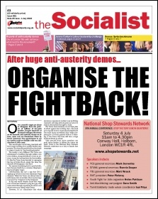 The Socialist issue 861 front page: after huge anti-austerity demos... organise the fightback!