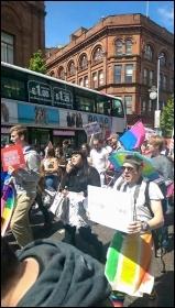 Belfast Pride march. Photo Socialist Party (CWI Ireland North)