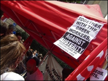 Photo Linkse Socialistische Partij / Parti Socialist de Lutte (CWI Belgium)