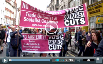 TUSC on the 20th June anti-austerity demonstration in London