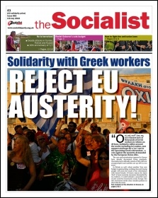 Issue 862 front page - Solidarity with Greek workers: Reject EU austerity! 'Oxi'