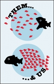 Them and us fishes, image Suzanne Beishon