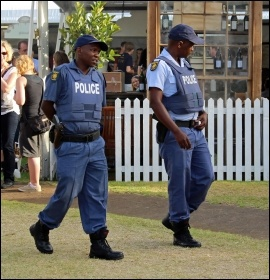 South African police. Photo: Marikana Wikimedia Commons (Creative Commons)