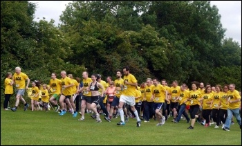AAA 5K run. Photo by Socialist Party (CWI Ireland)
