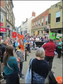 Demonstration in Hexham