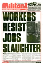Militant issue 1307 advertising the launching of The Socialist