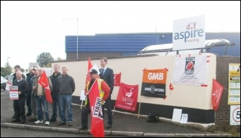 Aspire Housing workers striking to defend pay and conditions