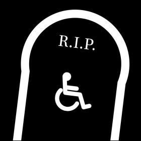 Disabled gravestone