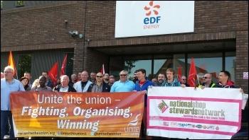 EDF strike, 4.9.15, Paul Callanan