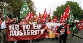 Brussels demo, 2010, photo by Paul Mattsson