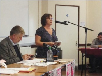 TUSC conference, 26.9.15, Nancy Taaffe speaking