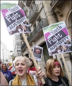 Anti-austerity demo, June 2015, London, photo Paul Mattsson