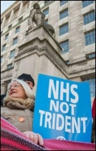 Anti-Trident demo, photo Paul Mattsson