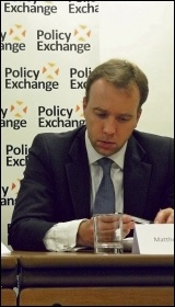 Tory minister Matthew Hancock, photo by Policy Exchange (Creative Commons)