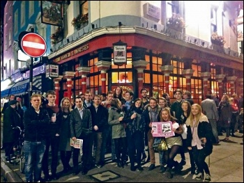Socialist Students Karl Marx pub crawl London 8.10.2015, photo by Helen Pattison