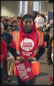 Corbyn supporter, photo Paul Mattsson