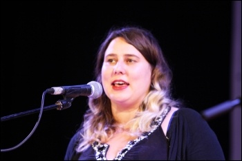 Socialism 2015 Saturday rally, Claire Laker-Mansfield, photo by Senan