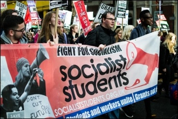 Student demo on 4.11.15, photo John Dickens