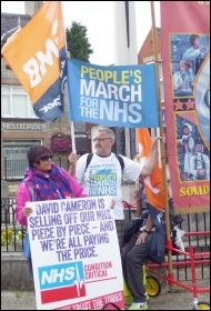 Marching for the NHS in Bolsover, August 2014, photo Elaine Evans
