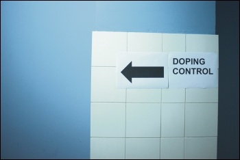 Doping control sign, photo by Rob Sinclair (Creative Commons)
