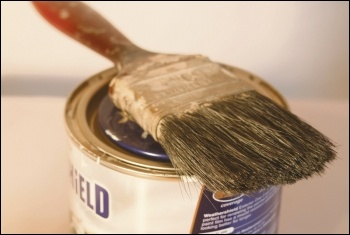 Paint and brush, photo by Alan Cleaver (Creative Commons)