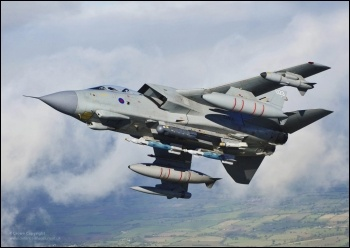 RAF Tornado warplane with bombs, photo Ministry of Defence (Creative Commons)