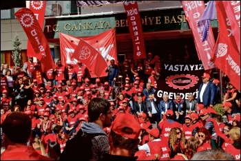 Workers in Turkey responded to the Ankara bombings in October with a general strike against terrorism and state repression, photo by Sosyalist Alternatif (CWI Turkey)