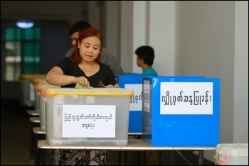 Voting in Myanmar, photo by Wikimedia Commons (Creative Commons)