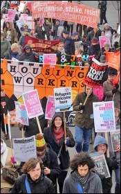 Housing Action 'homes for all' organised by Waltham Forest trades council, 21.11.2015, photo Senan