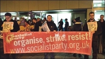 Socialist Party members on a protest against library cuts in Lambeth, December 2015